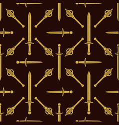 cold steel arms pattern vector image