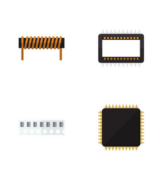 Flat device set of memory bobbin cpu and other vector