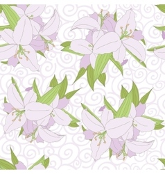 Lily seamless pattern vector image vector image