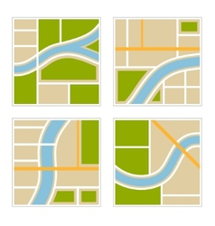 Set of Abstract City Map vector image