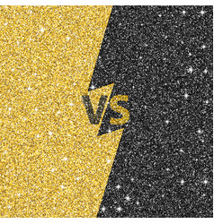 versus glitter letters black and gold vs text vector image