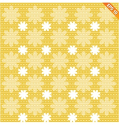 Abstract seamless pattern with dot flower on vector image vector image