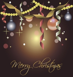 Beautiful card for christmas with balls vector image vector image