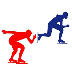 blue and red skaters vector image