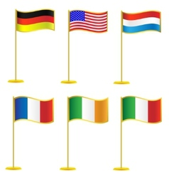 Collection of flags vector image vector image