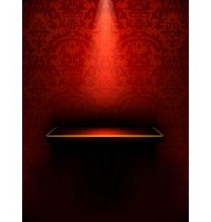 Empty shelf red luxury vector image vector image