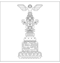 ethnic totem pole vector image
