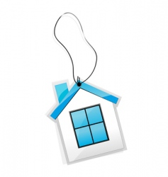 house tag vector image