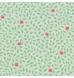 leaves pattern flowers vector image