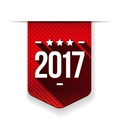 New Year 2017 red ribbon vector image vector image