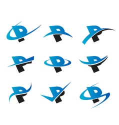 Alphabet P Logo Icons vector image vector image