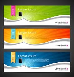 Banner design tablet vector