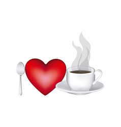 image color with lovers of hot coffee drink vector image