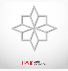 Paper 3d design sacral geometry mystery shape vector