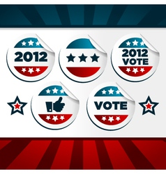 patriotic voting stickers vector image