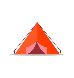 red tent isolated on white background vector image