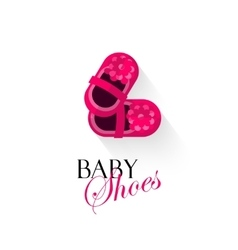 Baby shoes logo isolated on vector image vector image