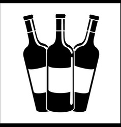 bottles of wine icon stock vector image vector image