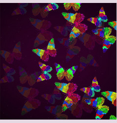 Abstract background with butterfly colorful vector