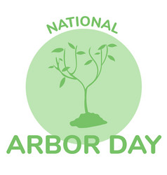arbor day icon flat vector image
