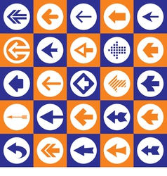 Arrows Sign - Icons Set vector image
