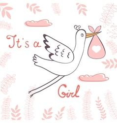 Bagirl announcement card vector