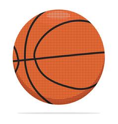 Basketball ball icon sport ball concept vector