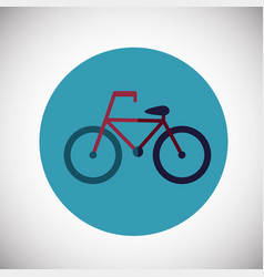 bicycle on flat background vector image