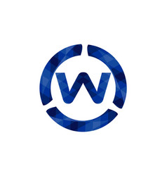 blue letter w logo designs inspiration isolated vector image