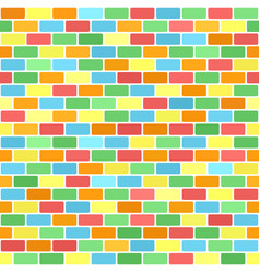 Bright brick wall pattern seamless background vector