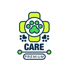 Care premium logo template design label for vector