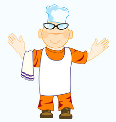 cartoon of the merry cook vector image