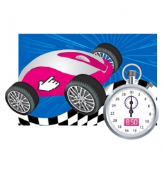 computer mouse and stopwatch vector image