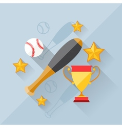 concept baseball in flat design style vector image