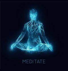 Concept human meditaion sacral energy vector