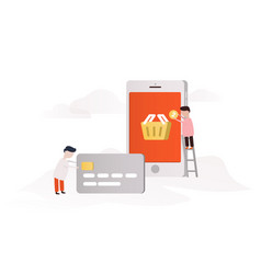 concept of e-commerce vector image