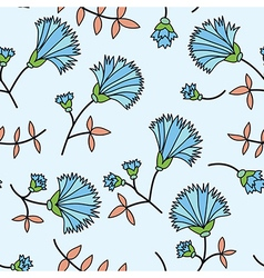 Cornflower seamless vector