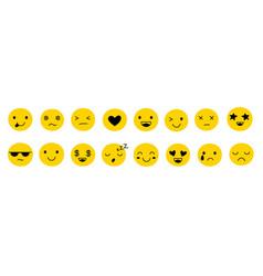 cute yellow emoticons isolated emoticon emoji vector image