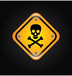 danger signal over black background vector image