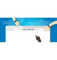 domain name web business internet concept url vector image