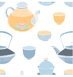 elegant seamless pattern with traditional asian vector image