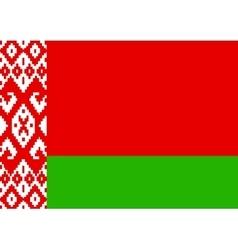 flag belarus vector image