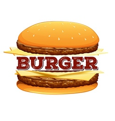 Font design for word burger vector image