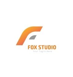 Fox or lion abstract face logo template vector