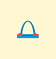 gateway arch icon flat element vector image