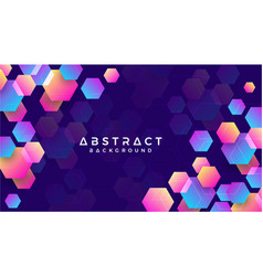 geometric abstract hexagon background vector image