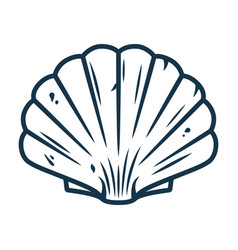 Graphic emblem scallop sea shell clam conch vector