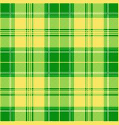 green and yellow tartan plaid seamless pattern vector image