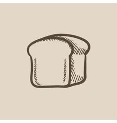 Half of bread sketch icon vector