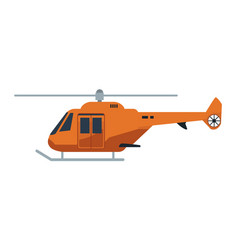 helicopter propelled vehicle rotor transport style vector image